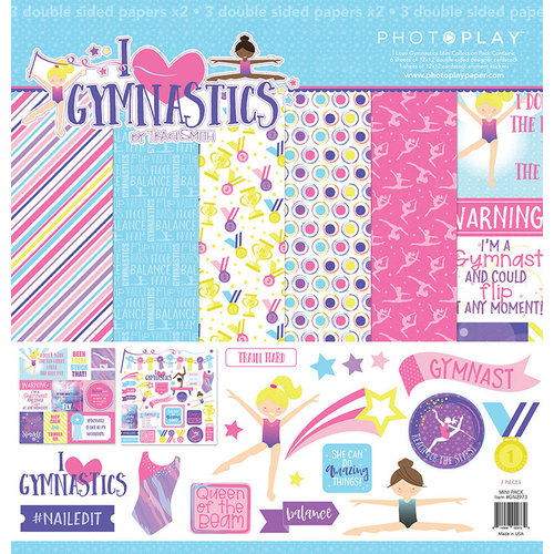 Photo Play Paper - I Love Gymnastics Collection - 12 x 12 Collection Pack