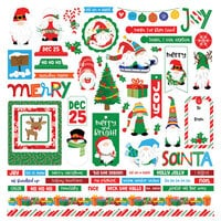 Photo Play Paper - Gnome for Christmas Collection - 12 x 12 Cardstock Stickers - Elements