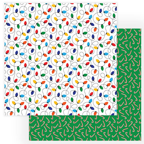 Photo Play Paper - Gnome for Christmas Collection - 12 x 12 Double Sided Paper - Candy Canes