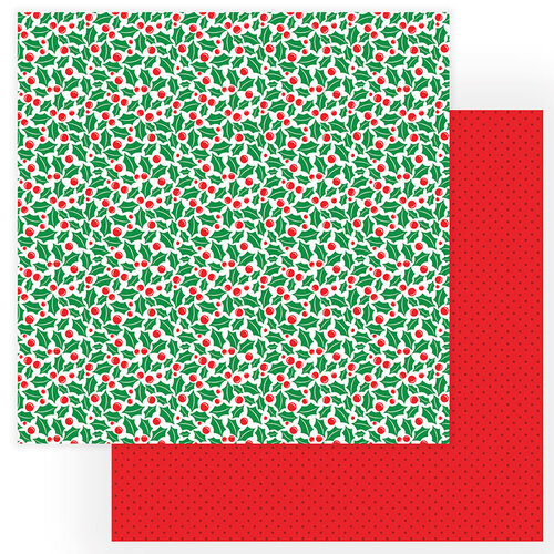 Photo Play Paper - Gnome for Christmas Collection - 12 x 12 Double Sided Paper - Holly Jolly