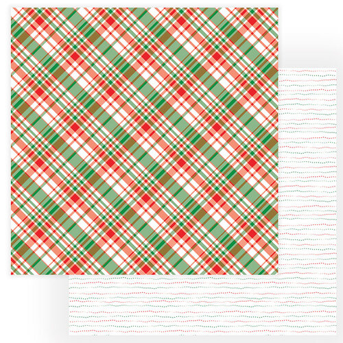 Photo Play Paper - Gnome for Christmas Collection - 12 x 12 Double Sided Paper - Flannel Shirt