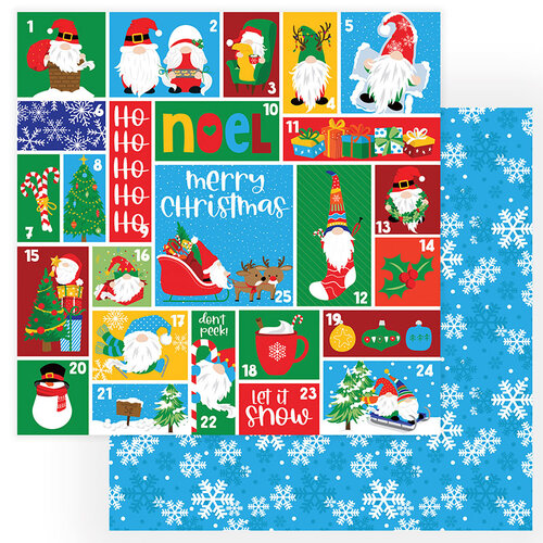 Photo Play Paper - Gnome for Christmas Collection - 12 x 12 Double Sided Paper - Countdown