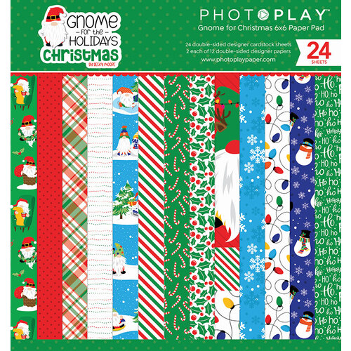 Photo Play Paper - Gnome for Christmas Collection - 6 x 6 Paper Pad