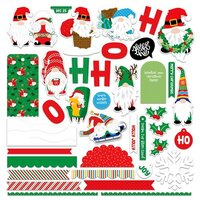 Photo Play Paper - Gnome For Christmas Collection - Card Kit Sticker