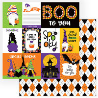 Photo Play Paper - Gnome For Halloween Collection - 12 x 12 Double Sided Paper - Spooky