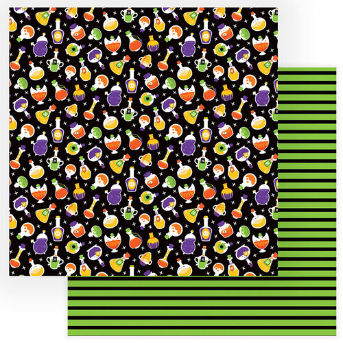 Photo Play Paper - Gnome for Halloween Collection - 12 x 12 Double Sided Paper - Potions and Spells