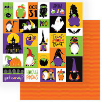 Photo Play Paper - Gnome for Halloween Collection - 12 x 12 Double Sided Paper - Trick Or Treat