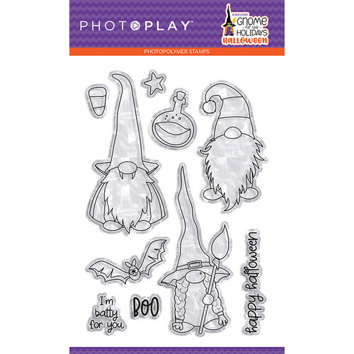 Photo Play Paper - Gnome for Halloween Collection - Clear Photopolymer Stamps