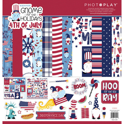 Photo Play Paper - Gnome for July 4th Collection - 12 x 12 Collection Pack