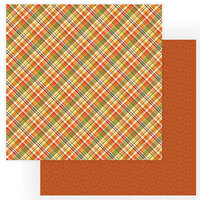 Photo Play Paper - Gnome for Thanksgiving Collection - 12 x 12 Double Sided Paper - Fall Blessings