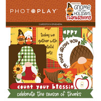 Photo Play Paper - Gnome for Thanksgiving Collection - Ephemera