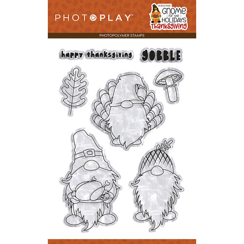 Photo Play Paper - Gnome for Thanksgiving Collection - Clear Photopolymer Stamps