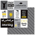 Photo Play Paper - Grad Day Collection - 12 x 12 Double Sided Paper - Toss Your Cap