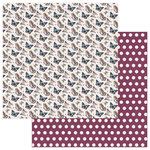 Photo Play Paper - Gypsy Rose Collection - 12 x 12 Double Sided Paper - Be Positive