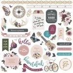 Photo Play Paper - Gypsy Rose Collection - 12 x 12 Cardstock Stickers - Elements