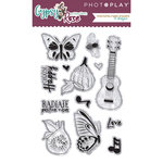 Photo Play Paper - Gypsy Rose Collection - Clear Acrylic Stamps