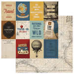 Photo Play Paper - Here and There Collection - 12 x 12 Double Sided Paper - Road Trip