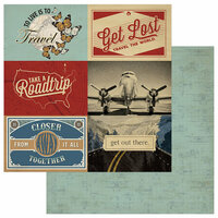 Photo Play Paper - Here and There Collection - 12 x 12 Double Sided Paper - Get Lost