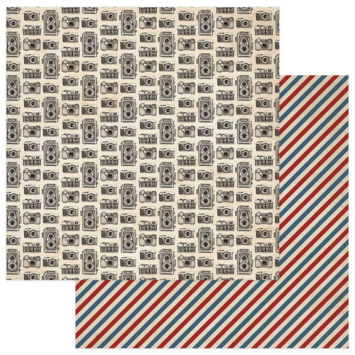 Photo Play Paper - Here and There Collection - 12 x 12 Double Sided Paper - Cameras