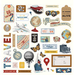 Photo Play Paper - Here and There Collection - 12 x 12 Cardstock Stickers - Elements