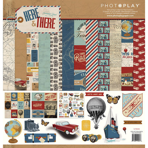 Photo Play Paper - Here and There Collection - 12 x 12 Collection Pack