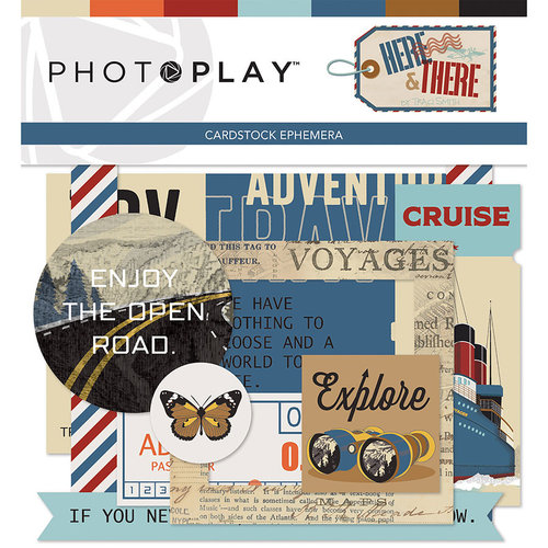 Photo Play Paper - Here and There Collection - Ephemera