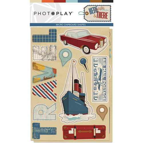 Photo Play Paper - Here and There Collection - Chipboard Stickers