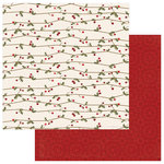 Photo Play Paper - Holiday Cheer Collection - Christmas - 12 x 12 Double Sided Paper - Holly Jolly