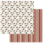 Photo Play Paper - Holiday Cheer Collection - Christmas - 12 x 12 Double Sided Paper - Pine Bough