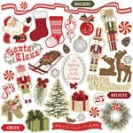 Photo Play Paper - Holiday Cheer Collection - Christmas - 12 x 12 Cardstock Stickers - Elements