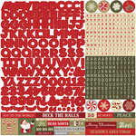 Photo Play Paper - Holiday Cheer Collection - Christmas - 12 x 12 Cardstock Stickers - Alphabet