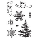 Photo Play Paper - Holiday Cheer Collection - Christmas - Clear Acrylic Stamp Set