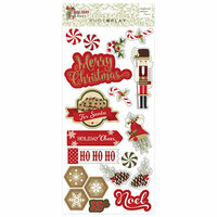 Photo Play Paper - Holiday Cheer Collection - Christmas - Chipboard Stickers