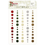 Photo Play Paper - Holiday Cheer Collection - Christmas - Enamel Dots