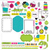 Photo Play Paper - Hello There Collection - Card Kit Stickers