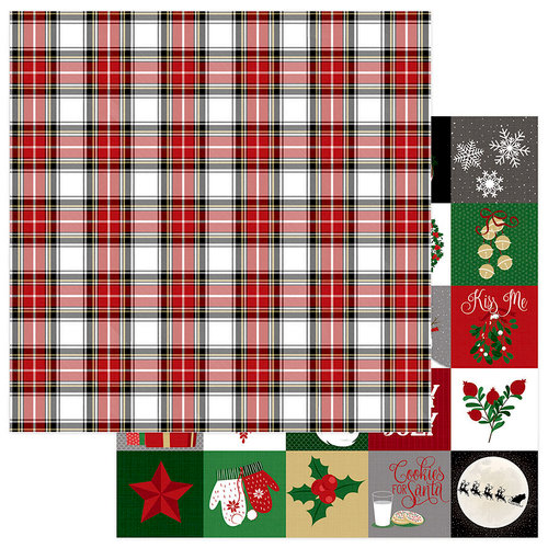 Photo Play Paper - Here Comes Santa Collection - Christmas - 12 x 12 Double Sided Paper - Countdown