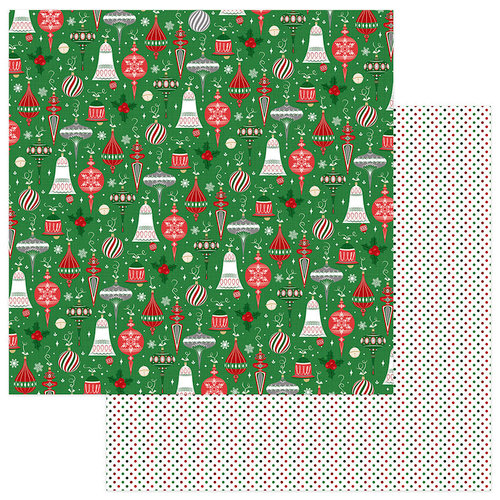 Photo Play Paper - Here Comes Santa Collection - Christmas - 12 x 12 Double Sided Paper - Trimmings