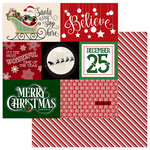 Photo Play Paper - Here Comes Santa Collection - Christmas - 12 x 12 Double Sided Paper - Believe