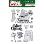 Photo Play Paper - Here Comes Santa Collection - Christmas - Clear Acrylic Stamps