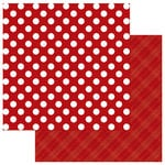 Photo Play Paper - Here Comes Santa Collection - Christmas - Solids Plus - 12 x 12 Double Sided Paper - Red