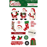 Photo Play Paper - Here Comes Santa Collection - Christmas - Puffy Stickers