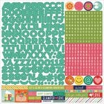 Photo Play Paper - Happy Glamper Collection - 12 x 12 Cardstock Stickers - Alphabet