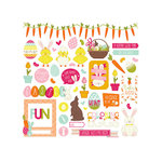 Photo Play Paper - Hoppy Easter Collection - 12 x 12 Cardstock Stickers - Elements