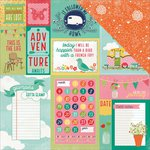 Photo Play Paper - Happy Glamper Collection - 12 x 12 Double Sided Paper - Journal Cards