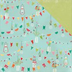 PhotoPlay Paper - Happy Glamper Collection - 12 x 12 Double Sided Paper - Pennants