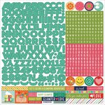 PhotoPlay Paper - Happy Glamper Collection - 12 x 12 Cardstock Stickers - Alphabet