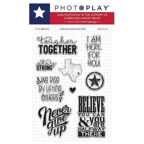 Photo Play Paper - Clear Acrylic Stamps - Hurricane Harvey Relief