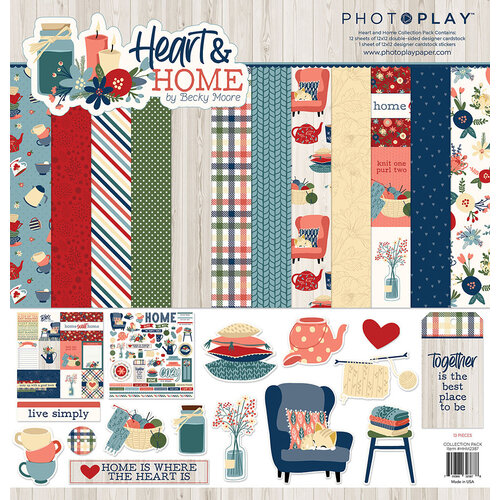 Photo Play Paper - Heart and Home Collection - 12 x 12 Collection Pack