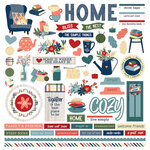Photo Play Paper - Heart and Home Collection - 12 x 12 Cardstock Stickers - Elements