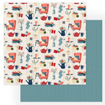 Photo Play Paper - Heart and Home Collection - 12 x 12 Double Sided Paper - Home Sweet Home
